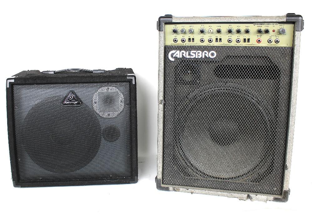 Behringer Ultratone K900FX 50 watt keyboard amplifier; together with a Carlsbro Cobra 90KB