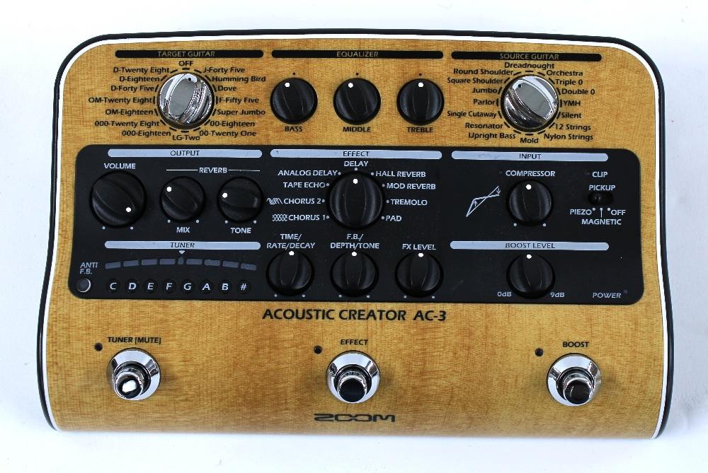 Zoom Acoustic Creator AC-3 guitar pedal