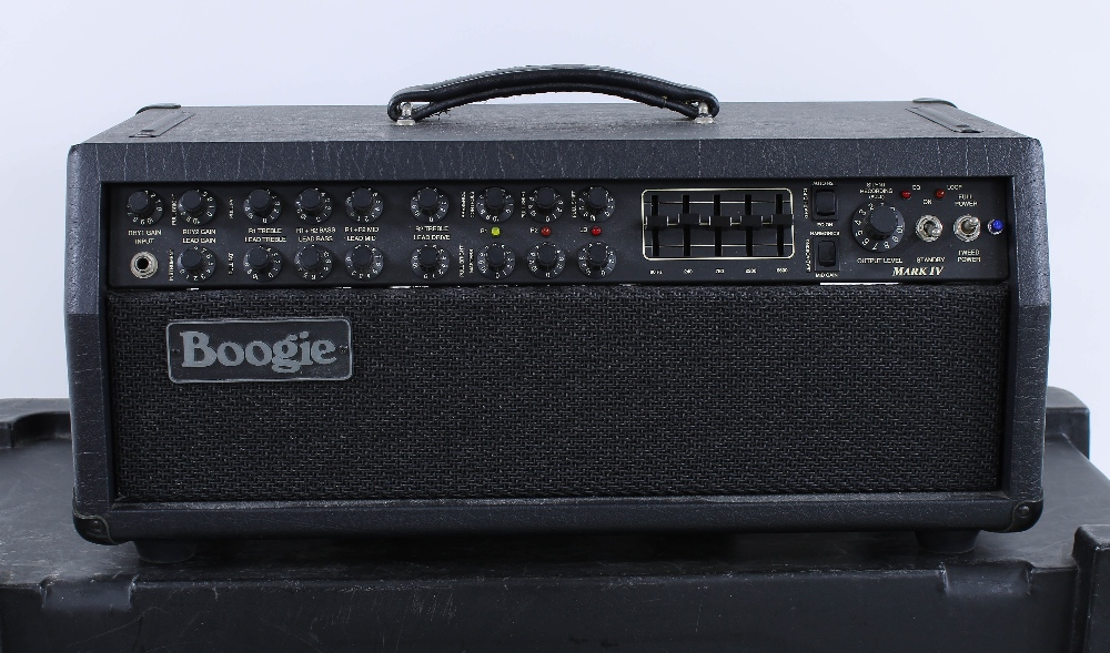 Mesa Boogie Mark IV guitar amplifier head, made in USA, ser. no. IV-009362, with matching 2 x 12 - Image 3 of 4