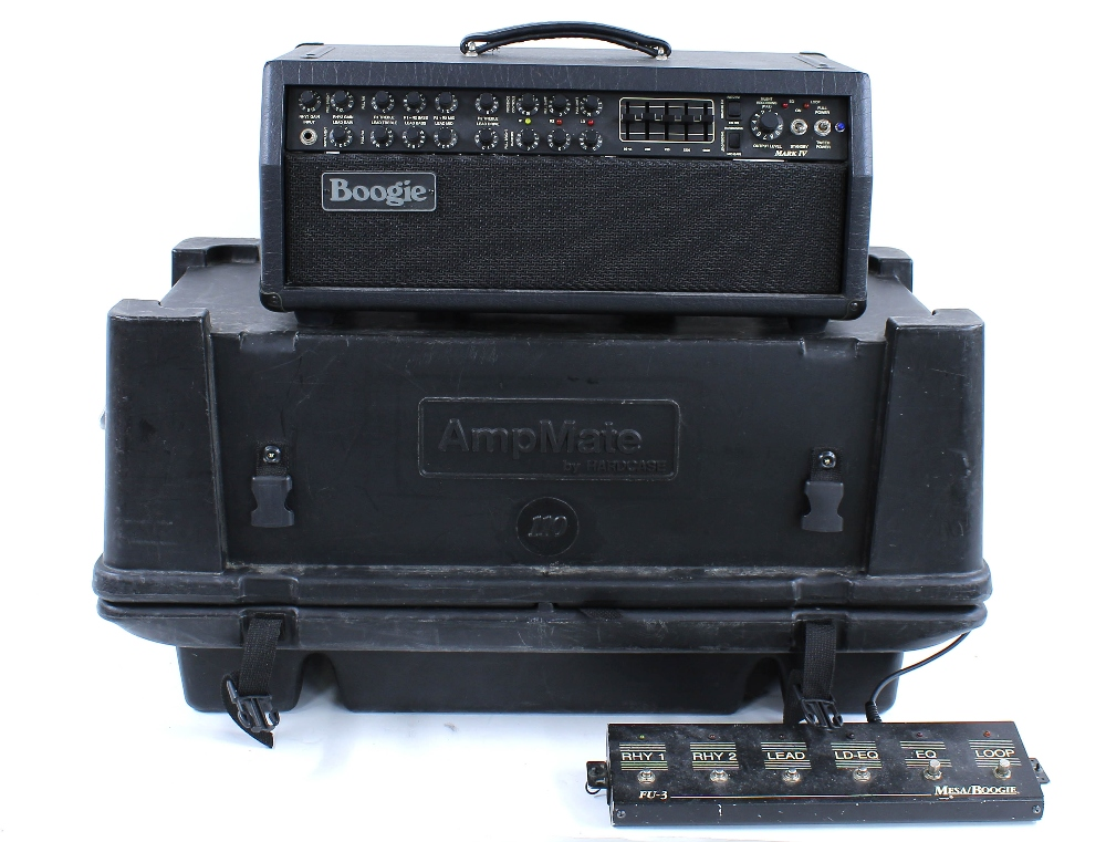 Mesa Boogie Mark IV guitar amplifier head, made in USA, ser. no. IV-009362, with matching 2 x 12 - Image 2 of 4