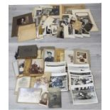 Large collection of Victorian and later black and white photographs, mostly family subjects and some