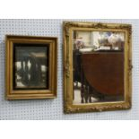"""Two gilt and gesso wall mirrors, 20"""" x 24"""" and 13"""" x 15"""" (2)"""