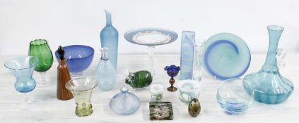 Good collection of art glass;including comports, vases, paperweight, dishes various etc.