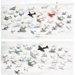 Collection of small diecast model aircraft, primarily Dinky