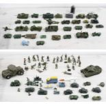 Collection of playworn Military diecast vehiclesby Dinky, Lesney, Budgie, Britain's etc; together