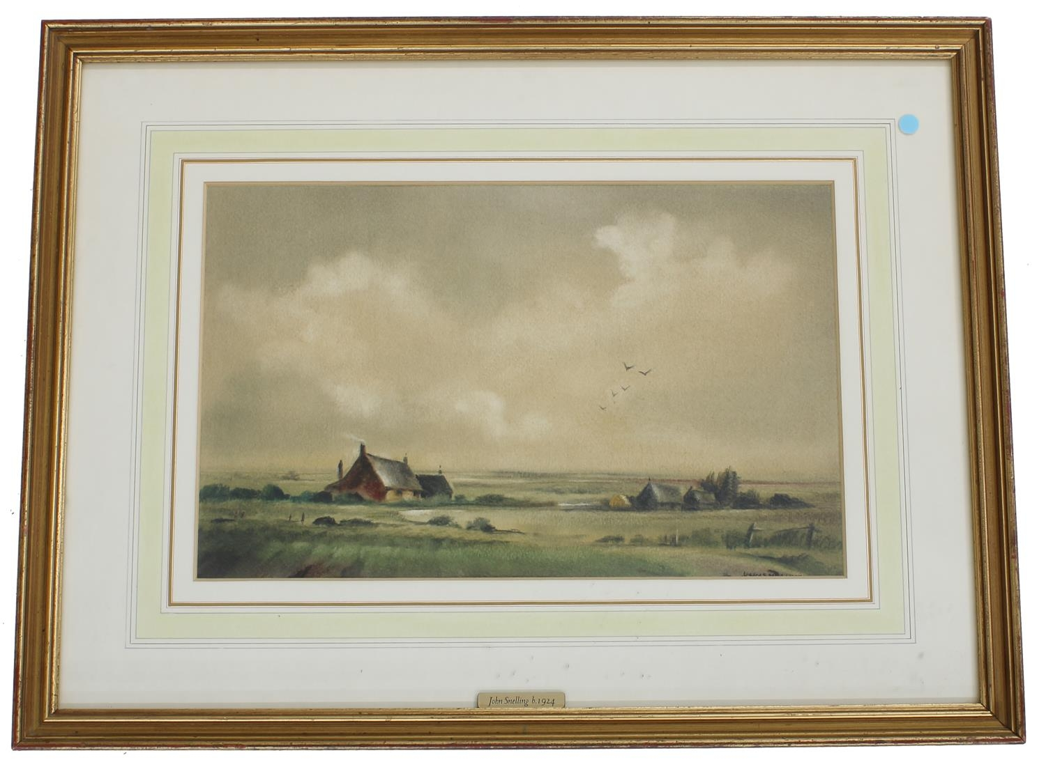 """John Snelling (b. 1924) -'Essex Fields', signed, watercolour, 11"""" x 16"""" *Exhibited at The Mall"""