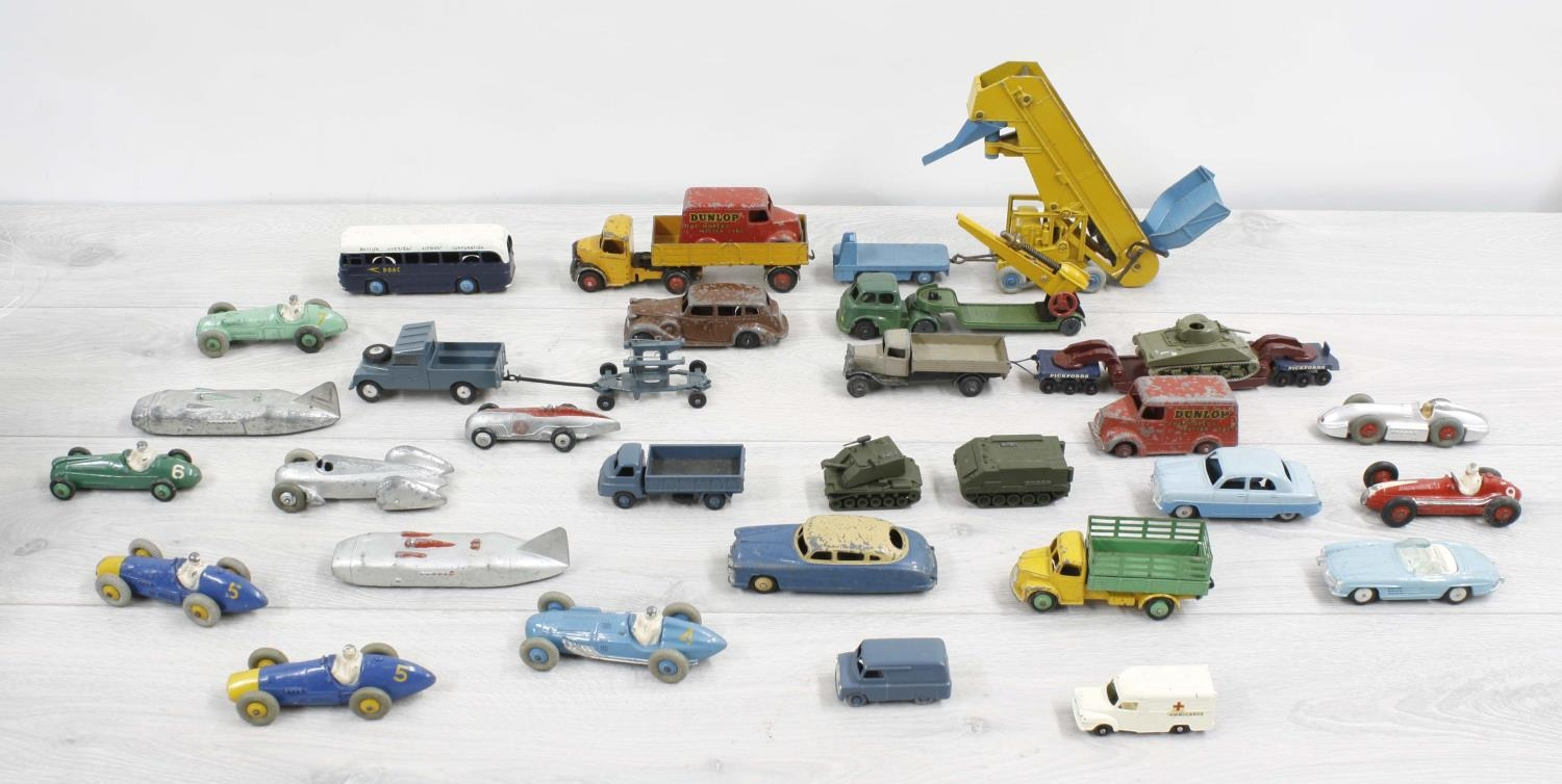 Dinky Toys -collection of playworn automobiles, also Corgi and Lesney examples