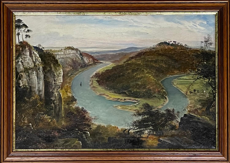 George Willis-Pryce (1866-1949) - river landscape, possibly Symonds Yat or Wintour's Leap, signed,