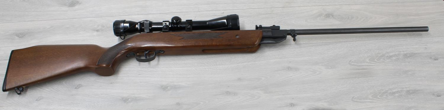 """Westlake air rifle, number A1102, 110211370, 43"""" long, with a canvas bag"""