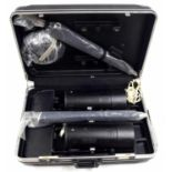 Cased pair of Bowens Mono Silver photography flash heads