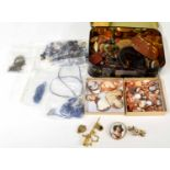 """Collection of loose shell cameos ofassorted sizes,the largest 2"""" high; together with a"""