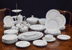 Raynaud, Limoges 'Bourgeois' extensive dinner and coffee service, with gilded decoration; comprising