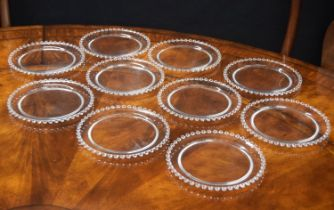 "Set of ten Lalique 'Andlau' circular plates,each signed, 8"" diameter (10)"