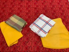 Seven various table cloths (7)