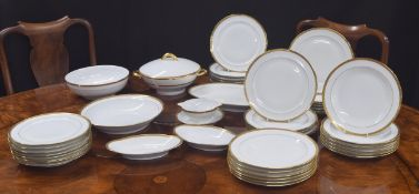 """Haviland, Limoges, Ch. Field dinner service; comprising tureen with cover 9.5"""" diameter, oval dish"""