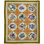 """Tapestry style fruits design rug,83"""" x 65"""" approx"""