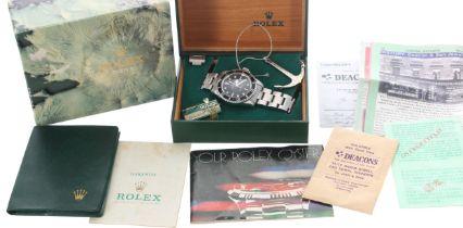Rolex Oyster Perpetual Submariner stainless steel gentleman's wristwatch, ref. 5513, serial no.
