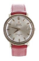 Omega Constellation Chronometer automatic gold plated and stainless steel gentleman's wristwatch,