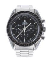 Omega Speedmaster Professional 'Moon' chronograph stainless steel gentleman's wristwatch, ref. ST
