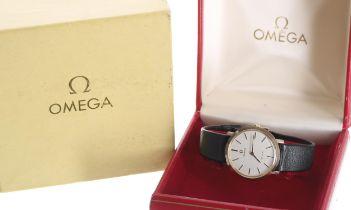 Omega De Ville 9ct gentleman's wristwatch, case ref. 1115067, serial no. 33443xxx, circa 1971,