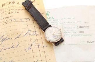 Rolex Precision 9ct gentleman's wristwatch, ref. 3923, serial no. 274xxx, circa 1944, signed