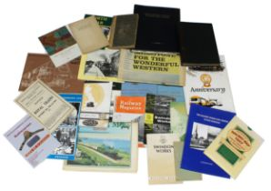 Large quantity of interesting railwayana books and pamphlets including a maintenance manual for