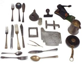 Small quantity of 'GWR' silver plated and other metalware including a milk jug, wrythen fluted oil
