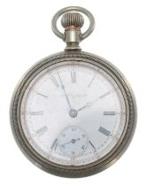 London, Midland and Scottish Railway (L.M.S.) Elgin nickel cased lever pocket watch, circa 1904,