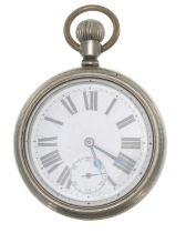 London, Brighton and South Coast Railway (L.B.S.C.R.Co.) nickel cased lever pocket watch,the