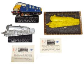Limited edition cast metal plaque inscribed 'King Class Locomotive King V no. 6000... no. 1927 of