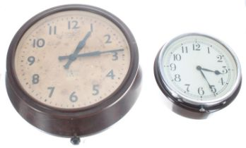 """Great Western Railway (G.W.R) 6"""" wall dial clock within a chrome surround and hingedBakelite"""