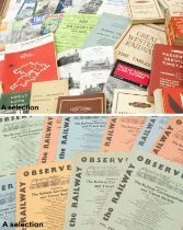 Large collection of BritishRailway Passenger Services, primarily western region and London;