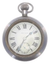 Great Western Railway (G.W.R.) Record nickel cased lever pocket watch,signed 15 jewel movement with