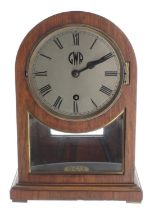 Great Western Railway (G.W.R) rosewood single train mantel clock with Lenz Kirchmovementstamped