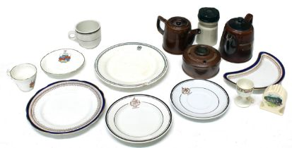 Quantity of 'GWR' and other railway ceramic dinner and tea wares comprising: 'GWR' Swindon cups,