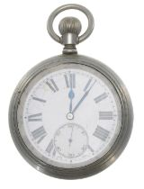 London and North Eastern Railway (L.N.E.R.) nickel cased lever pocket watch,cal. 534 15 jewel