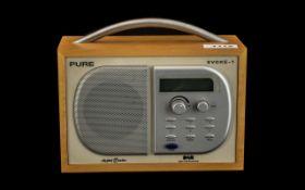 Evoke 1 Pure Digital Radio D A B in wood