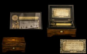French Miniature Rosewood Cased Musical