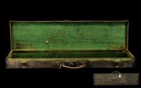 Antique Canvas & Leather Gun Case. Canv