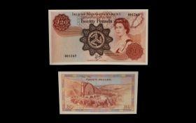 Isle of Man 1979 Millennium £20 Note, No