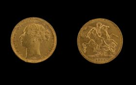 Queen Victoria Young Head St George 22ct