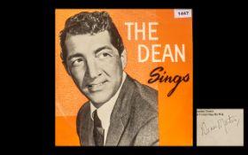 Dean Martin Autograph on Reverse Cover -