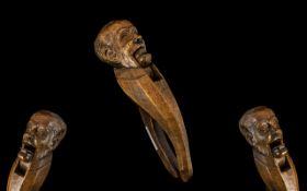Black Forest Interest. Large Carved Fig