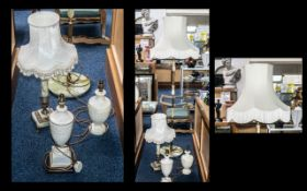 Collection of Lamps, comprising a tall g