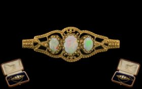 Antique Style 9ct Gold Attractive Opal S