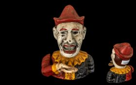 Cast Money Box in the form of a clown/je