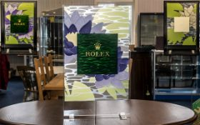 Rolex Official Superb & Original Large Shop Window Display Stand, made of perspex and coloured