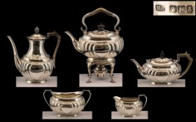 Victorian Period - Superb Quality and Impressive ( 5 ) Piece Sterling Silver Tea and Coffee Set of