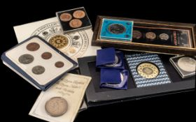 Collection of Coins in Packs. Good mixed collection of cased coins, see images.