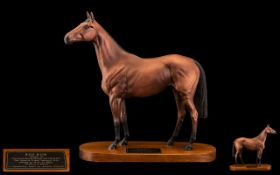 Beswick - Connoisseur Hand Painted Model Horse Figure ' Red Rum ' Style One. Model Num 2510.